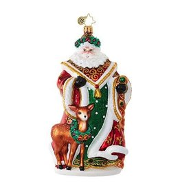 Christopher Radko My Deer Santa w Fawn Christmas Ornament
