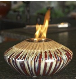 NAPA Firelites Sunset Fire Pot Decorative Jar Red Gold