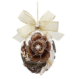Mark Roberts Christmas Decorations Vintage Floral Jewel Ornament Bronz