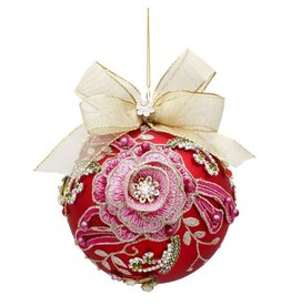 Mark Roberts Christmas Decorations Vintage Floral Jewel Ornament Rose