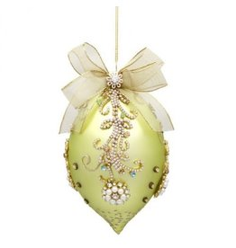 Mark Roberts Christmas Decorations Faberge Mint Jeweled Ornament