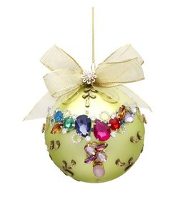 Mark Roberts Christmas Decorations Multi Jeweled Mint Ornament