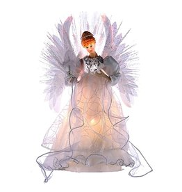 Kurt Adler Christmas Multi Color Fiber Optic Angel Tree Topper UL2192