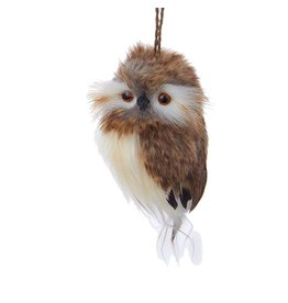Kurt Adler Brown White Owl Bird Christmas Ornament 4 inch C2279-C