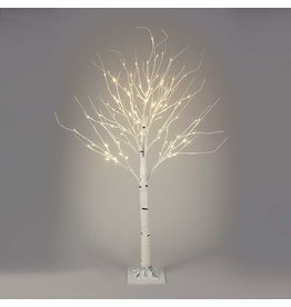 Kurt Adler White Birch Twig Tree Pre-Lit 4 FT WW LED Twinkle Lights