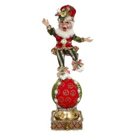 Mark Roberts Fairies Elves Ball Stocking Holder Merry Christmas Elf