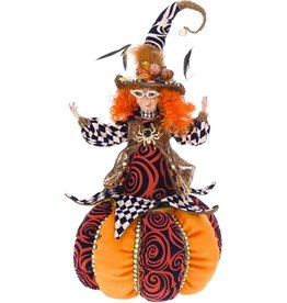 Mark Roberts Fairies Halloween Witch Trick or Treat Cookie Jar 18in -A