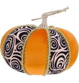 Mark Roberts Fall Decor Fashion Pumpkin Swirl Short 6H inches