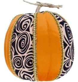 Mark Roberts Fall Decor Fashion Pumpkin Swirl Tall 8H inches