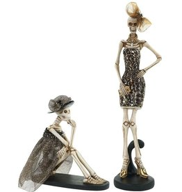 Mark Roberts Halloween Decor Fashion Skeletons Set of 2 Stand-Sitting