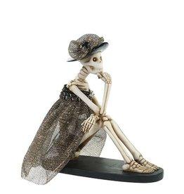 Mark Roberts Halloween Decor Fashion Skeleton Sitting 7 inch