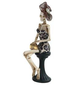 Mark Roberts Halloween Decor Fashion Skeleton Sitting 10 inch