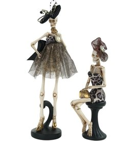 Mark Roberts Halloween Decor Fashion Skeletons Set of 2 Stand-Sitting
