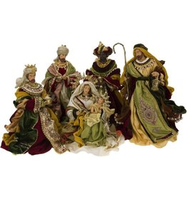 Mark Roberts Christmas Decorations Florentine Nativity Scene Set of 5