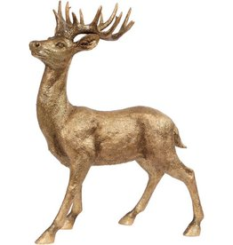 Mark Roberts Christmas Decorations Lg Gold Standing Deer 29.5 inch