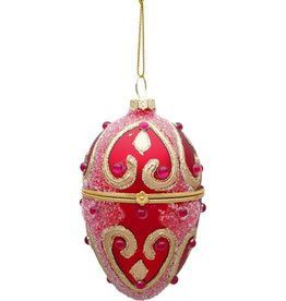 Mark Roberts Christmas Decorations Faberge Egg Ornament 4 inch Red