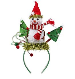Mark Roberts Christmas Decorations Christmas Hat Headband w Snowman