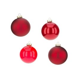 Mark Roberts Christmas Decorations Ball Ornaments 4 inch Set of 4 RED