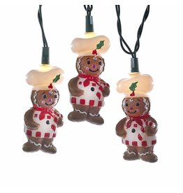 Kurt Adler Gingerbread Chef s10 Light Set UL4322 Novelty Christmas