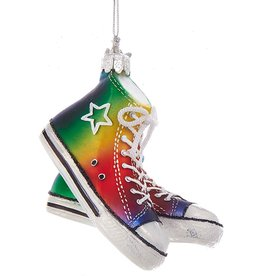 Kurt Adler Nobel Gems Gay Pride Sneaker Ornament 4 inch