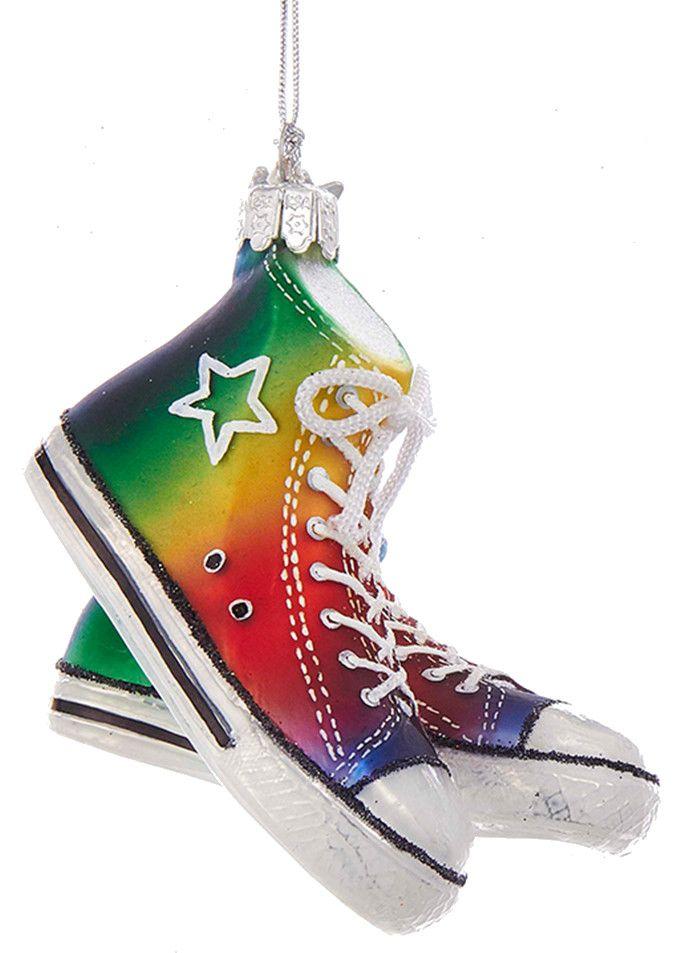 kurt adler nobel gems gay pride sneaker ornament 4 inch - Gay Pride Christmas Decorations