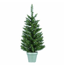 Kurt Adler Christmas Tree Pre-Lit 36 Inch Pine Tree w Clear Lights Potted