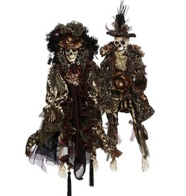 Mark Roberts Fairies Skeletons 51-77542 Mr and Mrs Safari Fashion 20in
