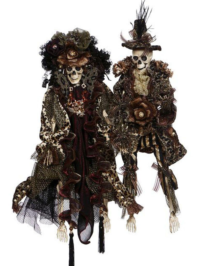 Mark Roberts Fairies Skeletons 51-77542 Mr and Mrs Safari Fashion 20in