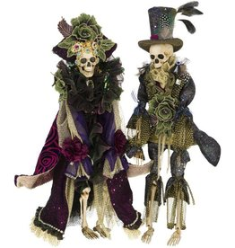 Mark Roberts Fairies Skeletons 51-77546 Mr and Mrs Regal Fashion 22in