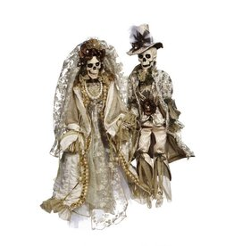 Mark Roberts Fairies Skeletons 51-77552 Mr Mrs Dearly Departed 29in