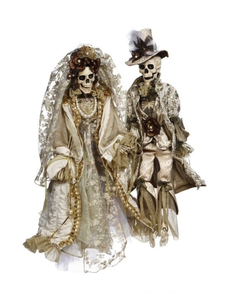 Mark Roberts Fairies Skeletons 51-77550 Mr Mrs Dearly Departed 29in