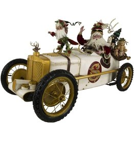 Mark Roberts Fairies Santas Race Car Santa 51-77848 XLG 52x24in SIGNED