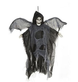Mark Roberts Halloween Animated Flying-Winged Skeleton Reaper 18in BLK