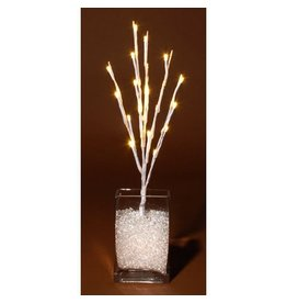 Darice Lighted Branch White 17 inch w 20 LED Warm White Lights
