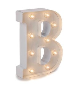 Darice LED Light Up Marquee Letter B 5915-780 White Metal
