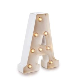 Darice LED Light Up Marquee Letter A 5915-779 White Metal