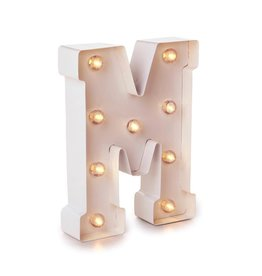 Darice LED Light Up Marquee Letter M 5915-790 White Metal
