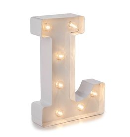 Darice LED Light Up Marquee Letter L 5915-789 White Metal