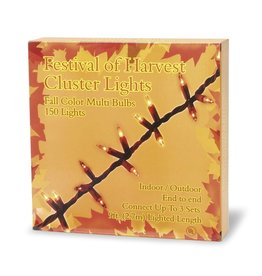 Darice Fall Harvest Cluster Light Set 150 Lights w Brown Wire