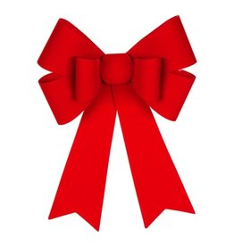 "Darice Christmas Red Velvet Bow 6 Loop PVC 12x18"" Holiday Expressions"
