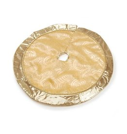 Darice Mini Christmas Tree Skirt 18D Inches Metallic Gold