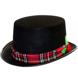 Darice Christmas Black Felt Top Hat for  Snowman or Caroler Costume