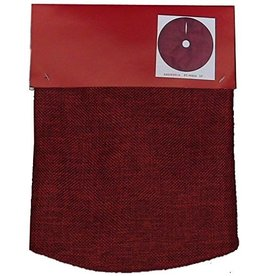 Darice Mini Christmas Tree Skirt 18D Inches Synthetic Burlap - Red
