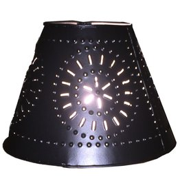 Cleveland Vintage Lighting Lamp Shade Clip On Punched Metal Black Metal Shade 5.5x3.75