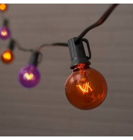 Darice Halloween Globe String Lights Set 10L Orange and Purple Bulbs