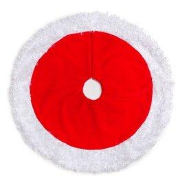 Darice Mini Christmas Tree Skirt 18D Inch Red w White Plush Border