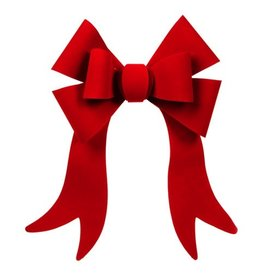 Darice Christmas Bow Red Velvet PVC Bow 6 Loop 12x16 inch