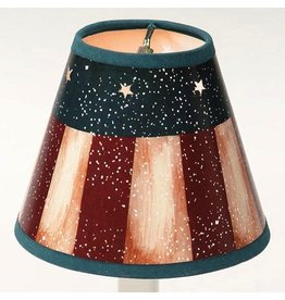 Darice Lamp Shade Clip On Light Bulb 4 inch Antique Americana