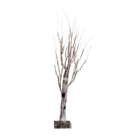 Darice Birch Tree Natural w WW LED Lights 24 inch Holiday Display Tree