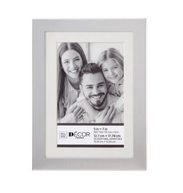 Darice Simple Silver Picture Frame 5x7 Matted to 4x6